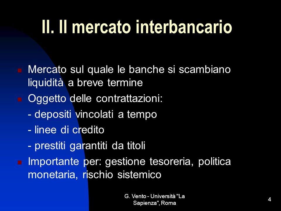II. Il mercato interbancario