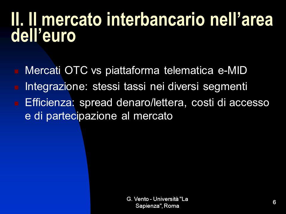 II. Il mercato interbancario nell'area dell'euro