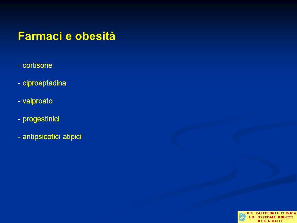 Farmaci e obesità - cortisone - ciproeptadina - valproato