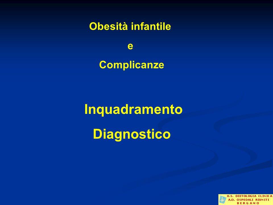 Obesità infantile e Complicanze Inquadramento Diagnostico