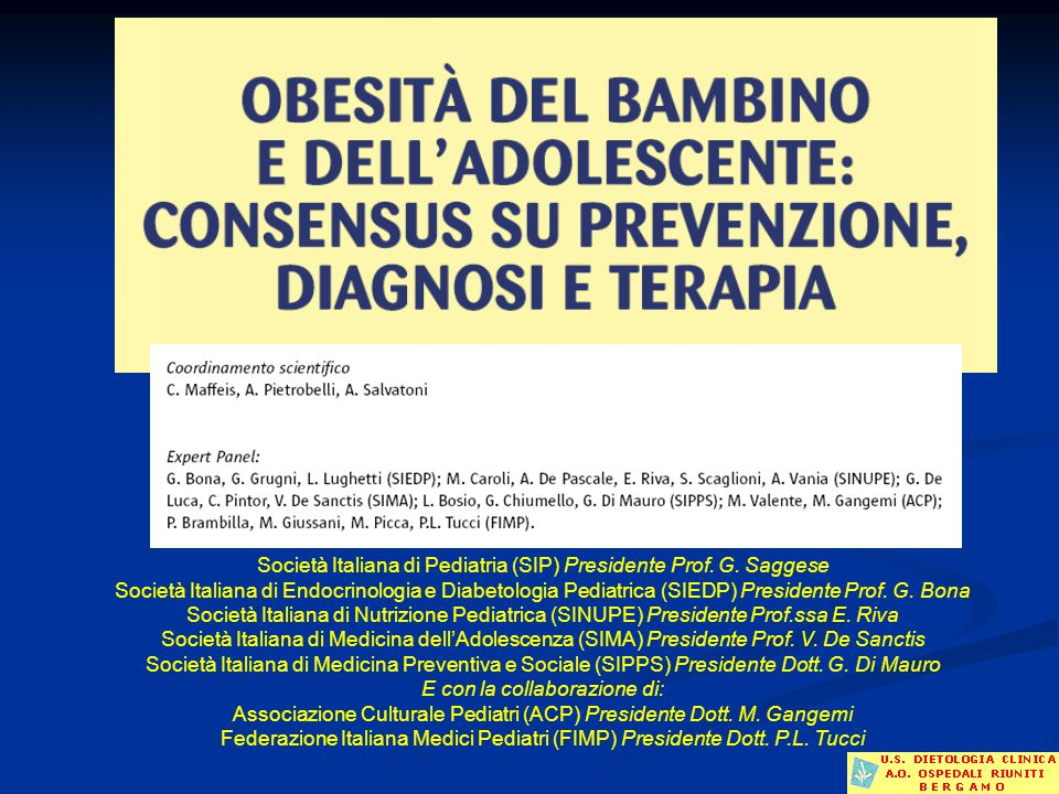 Società Italiana di Pediatria (SIP) Presidente Prof. G. Saggese