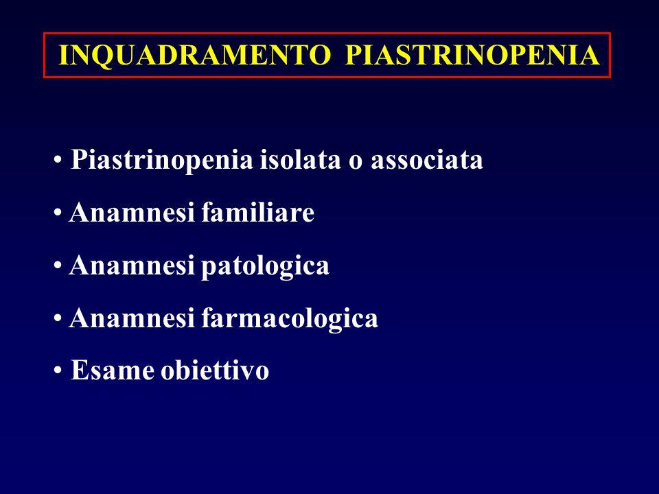 INQUADRAMENTO PIASTRINOPENIA