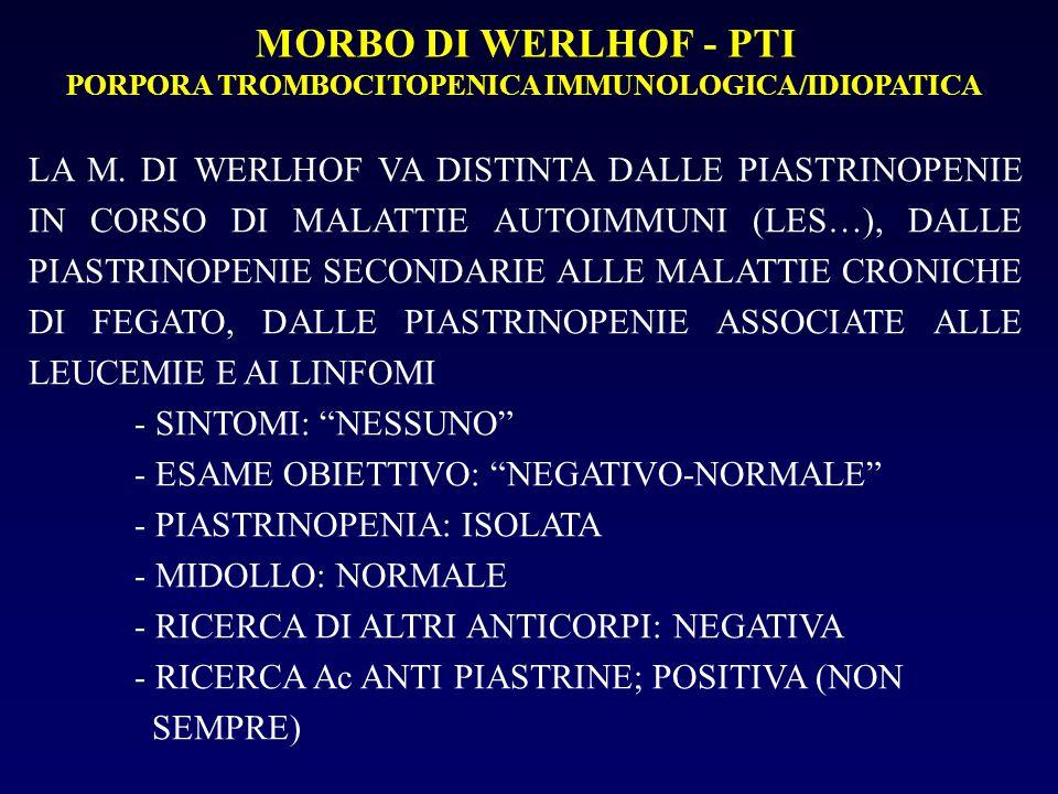 PORPORA TROMBOCITOPENICA IMMUNOLOGICA/IDIOPATICA