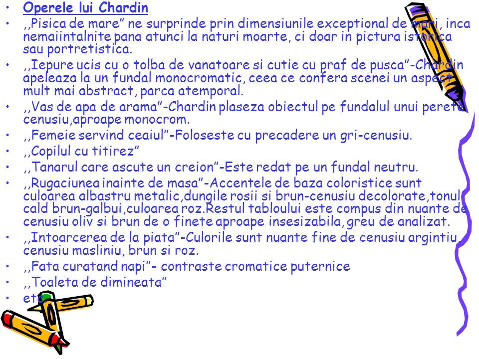 Operele lui Chardin