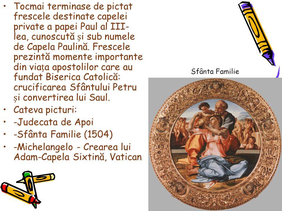 -Michelangelo - Crearea lui Adam-Capela Sixtină, Vatican