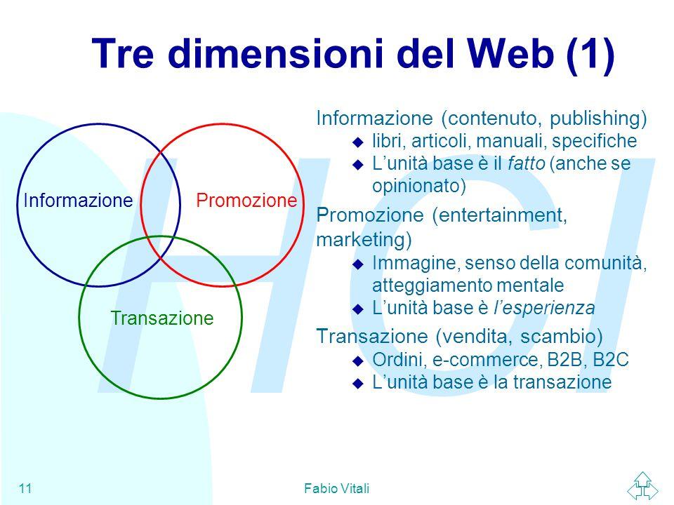 Tre dimensioni del Web (1)