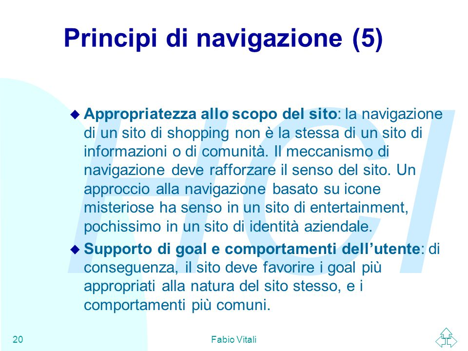 Principi di navigazione (5)
