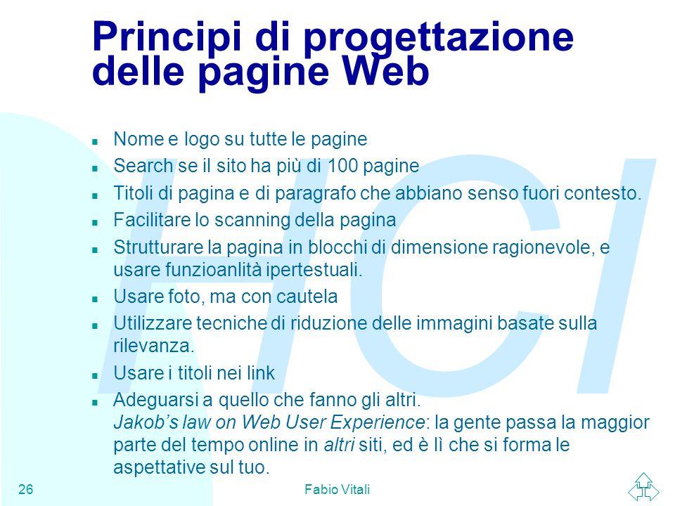 Principi di progettazione delle pagine Web