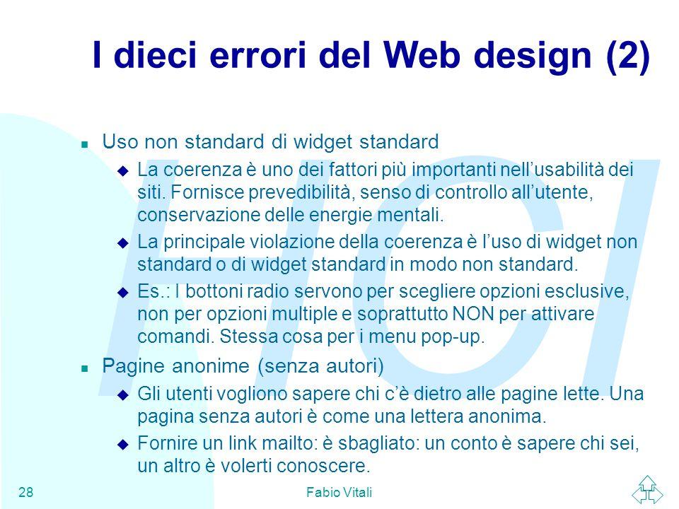 I dieci errori del Web design (2)