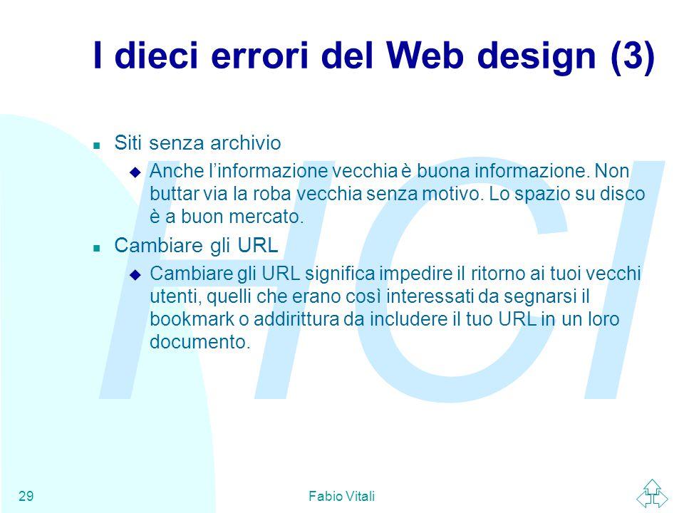 I dieci errori del Web design (3)