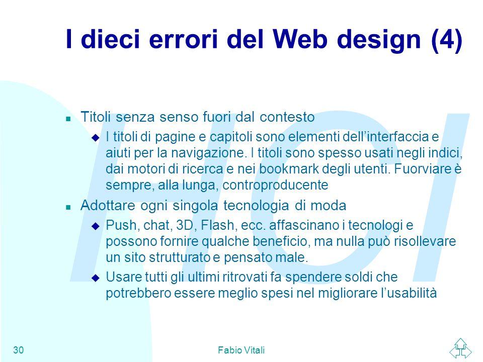 I dieci errori del Web design (4)