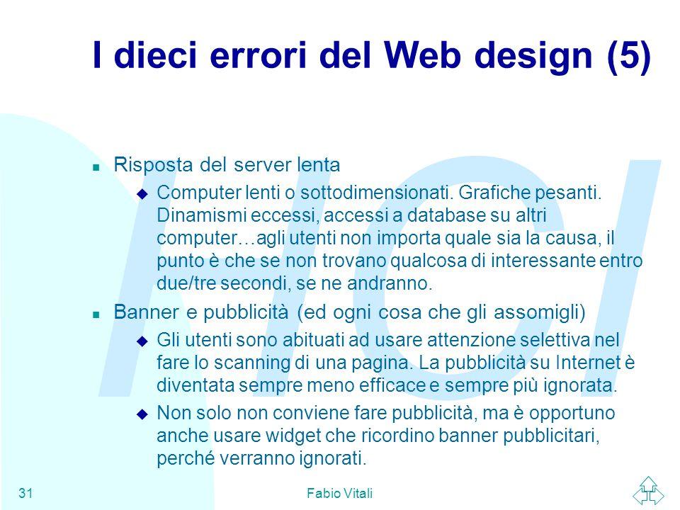 I dieci errori del Web design (5)