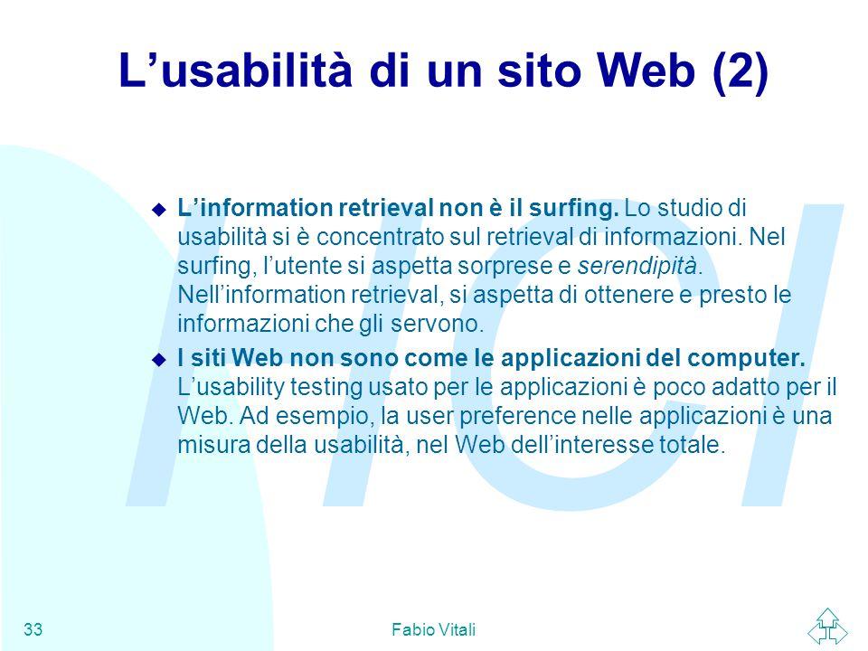 L'usabilità di un sito Web (2)