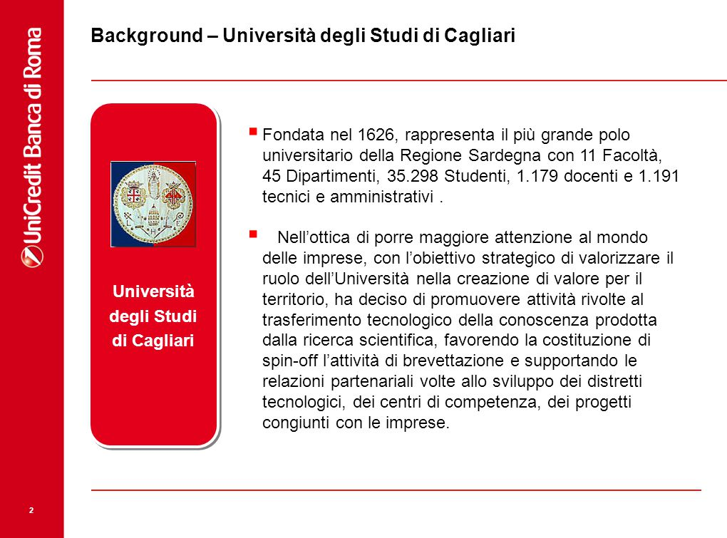 Background – Università degli Studi di Cagliari