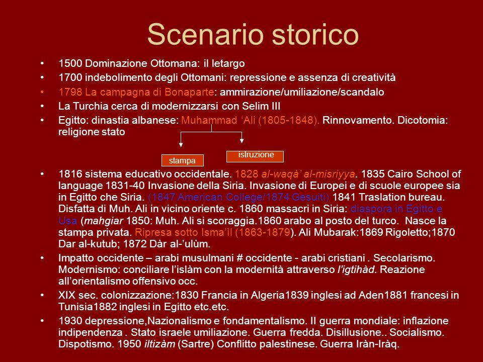 Scenario storico 1500 Dominazione Ottomana: il letargo