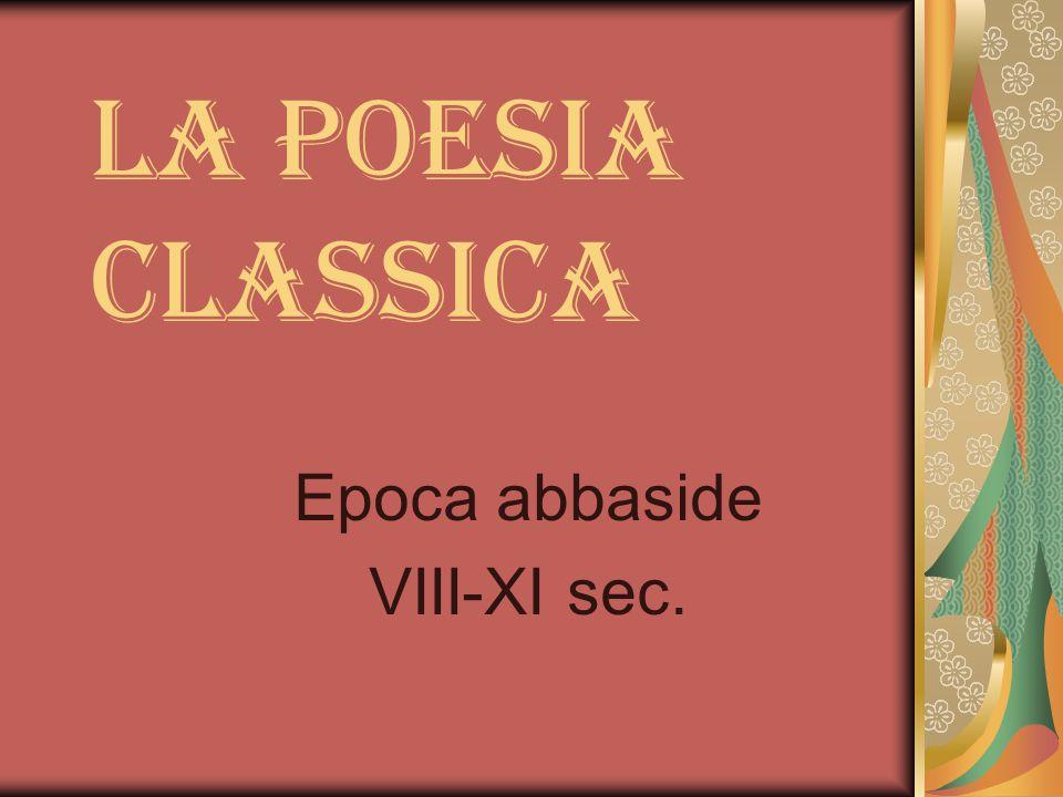 Epoca abbaside VIII-XI sec.