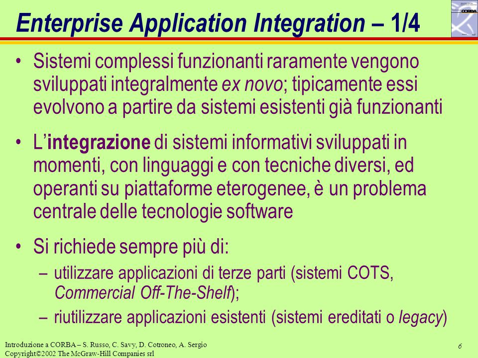 Enterprise Application Integration – 1/4