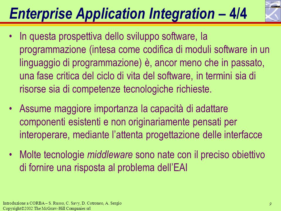 Enterprise Application Integration – 4/4