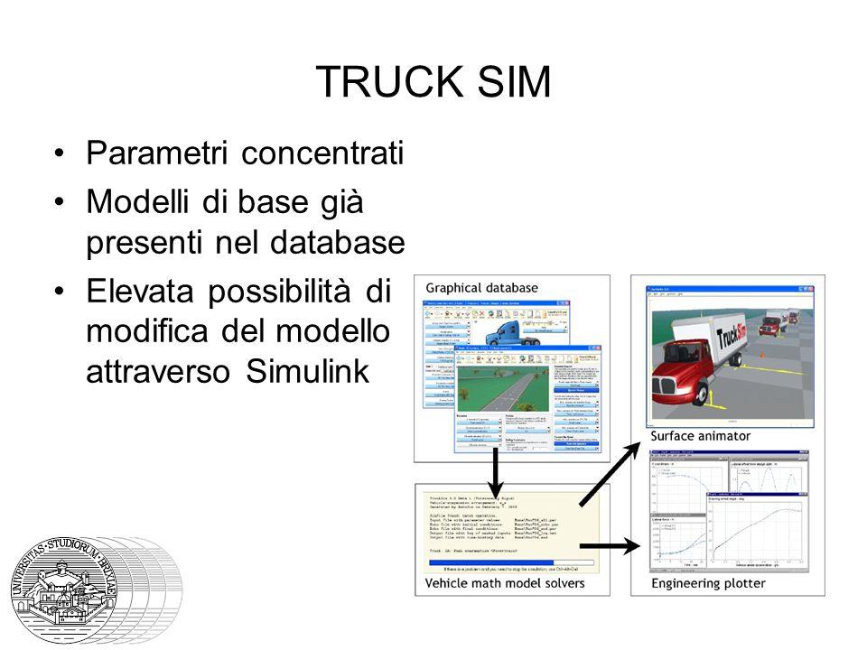 TRUCK SIM Parametri concentrati