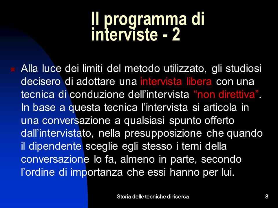 Il programma di interviste - 2