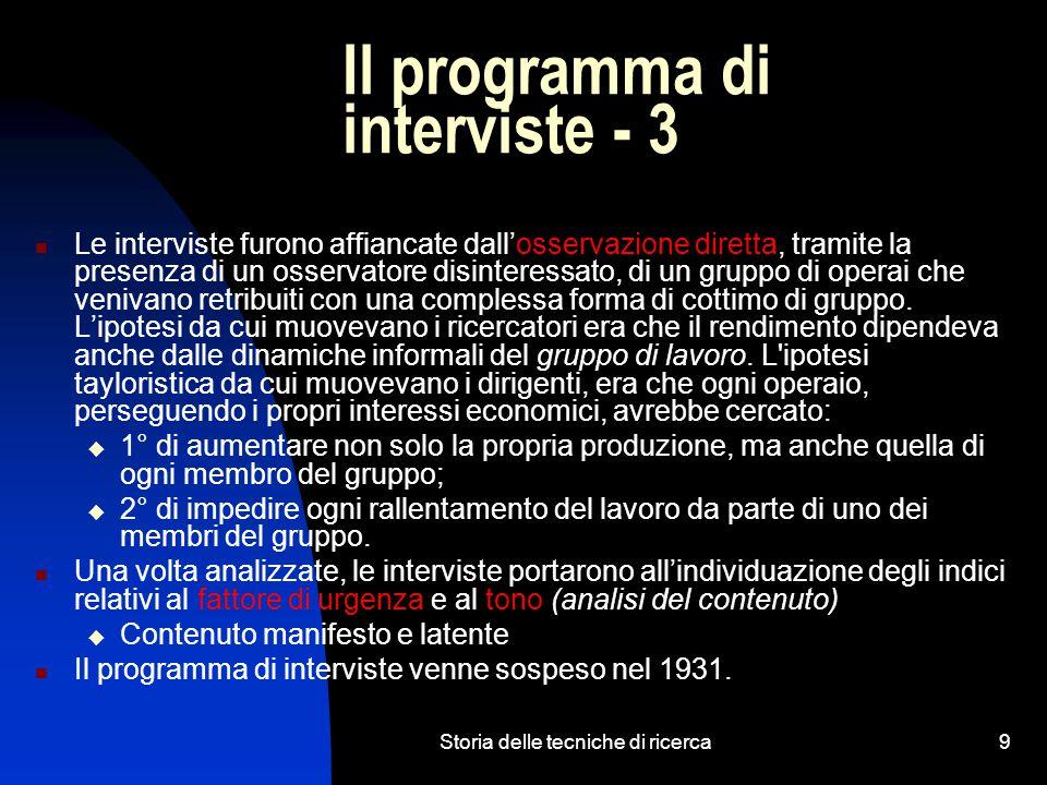 Il programma di interviste - 3
