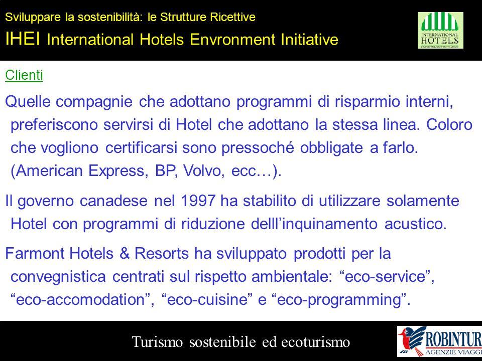 Turismo sostenibile ed ecoturismo