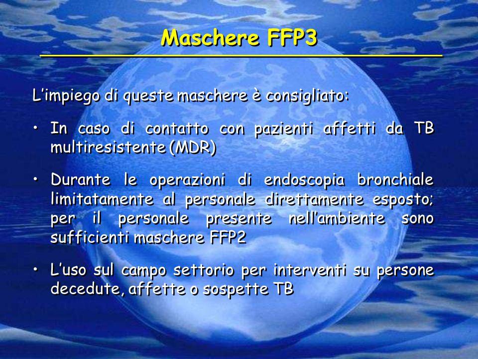 Maschere FFP3 L'impiego di queste maschere è consigliato:
