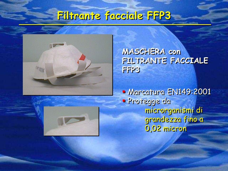 Filtrante facciale FFP3