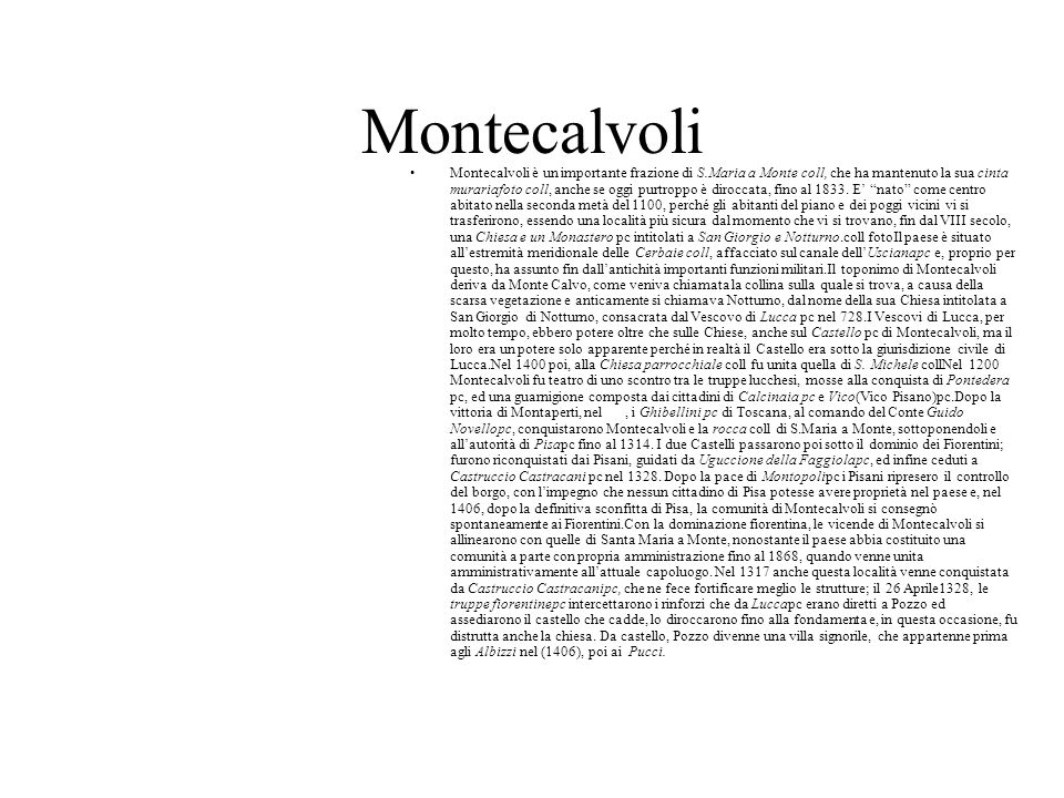 Montecalvoli