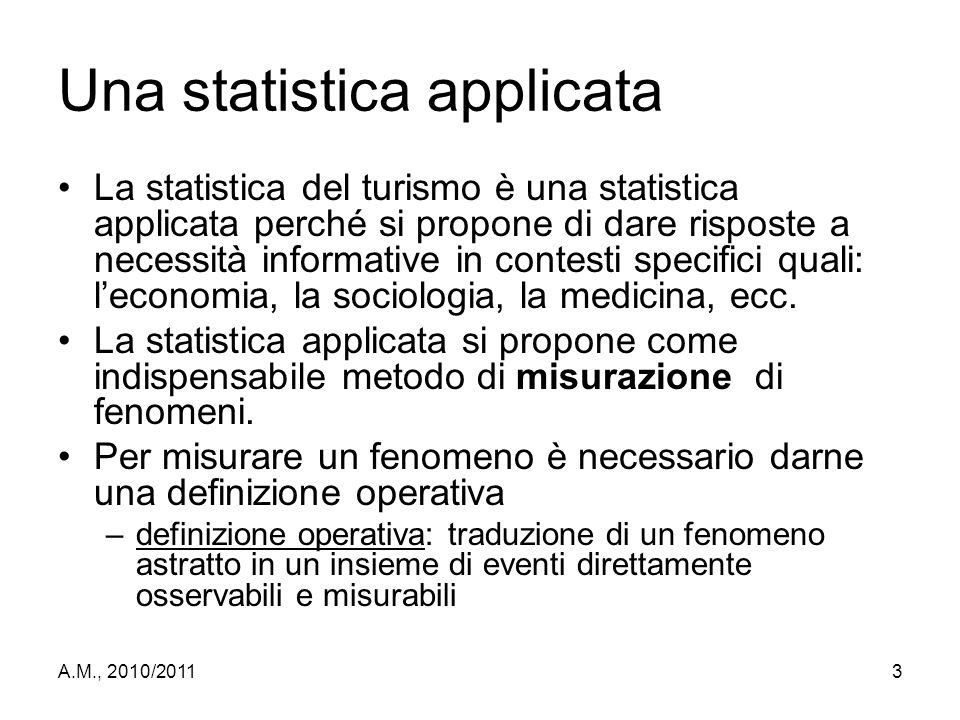 Una statistica applicata