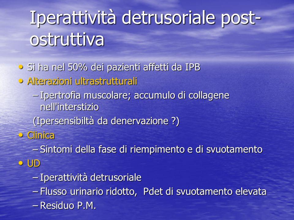 Iperattività detrusoriale post-ostruttiva