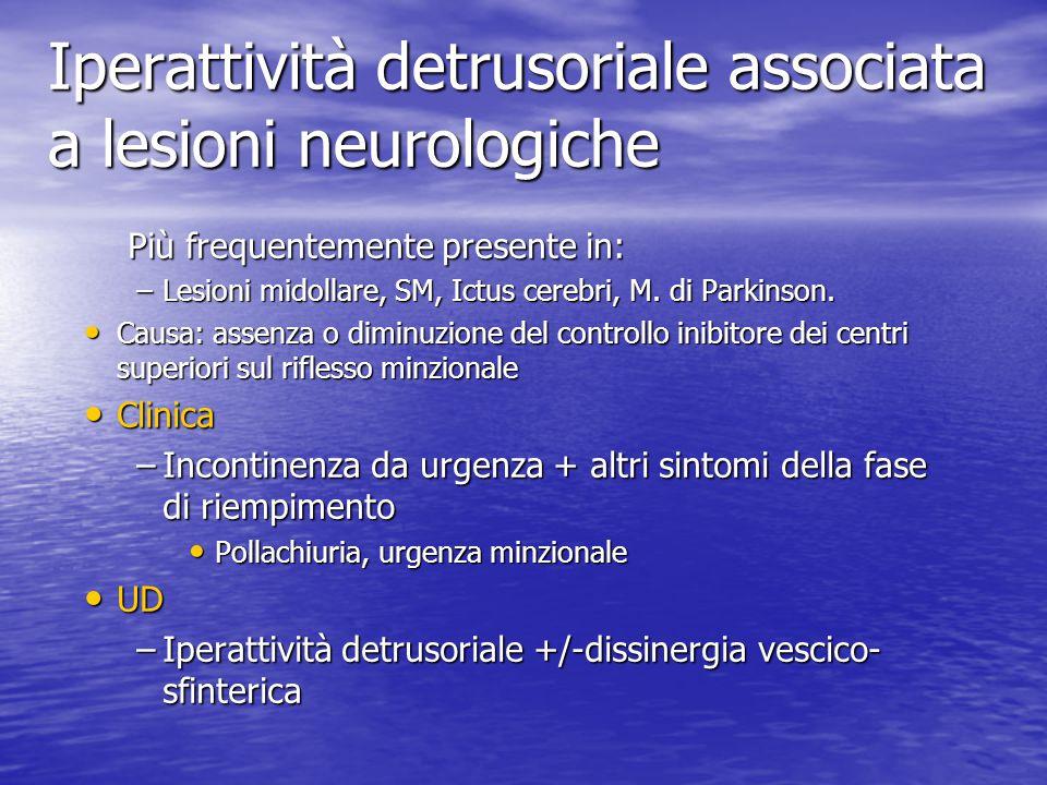 Iperattività detrusoriale associata a lesioni neurologiche