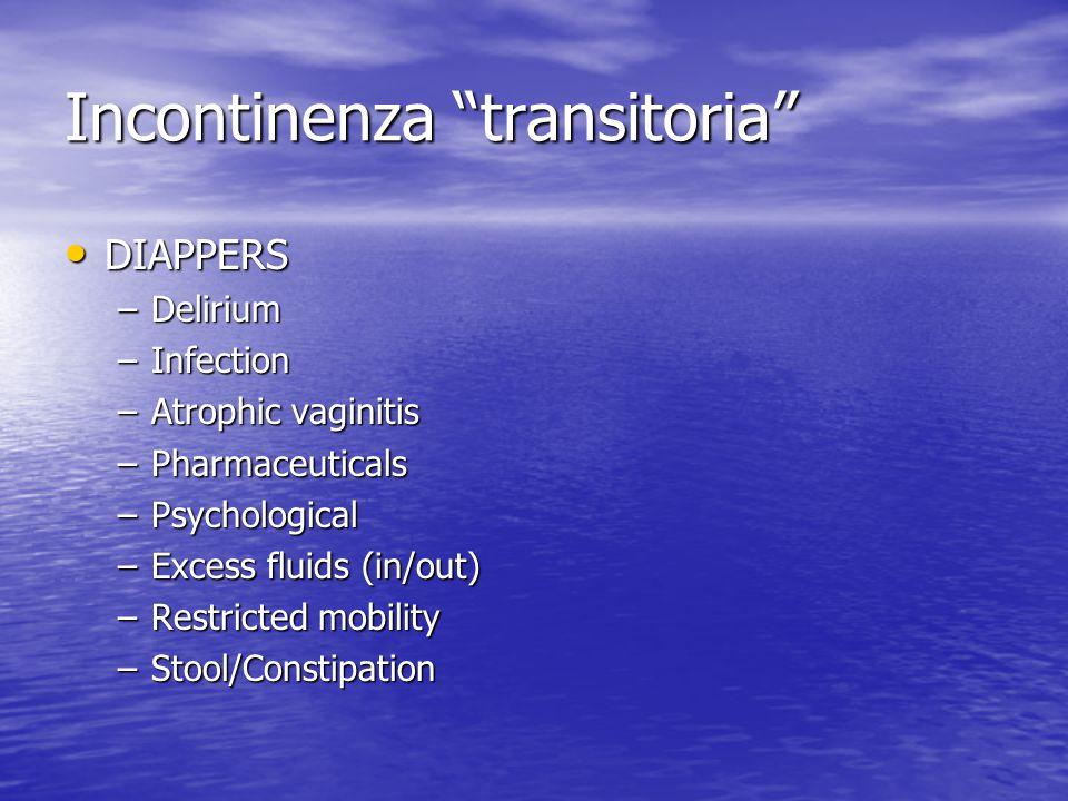 Incontinenza transitoria