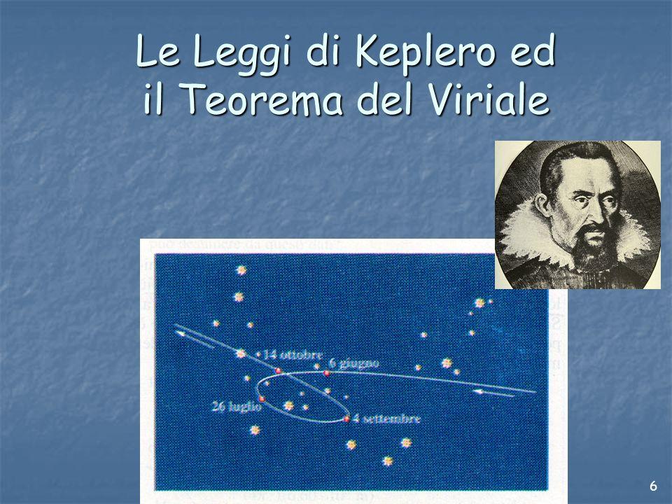 Le Leggi di Keplero ed il Teorema del Viriale