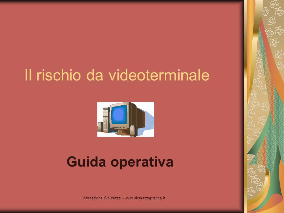 Il rischio da videoterminale