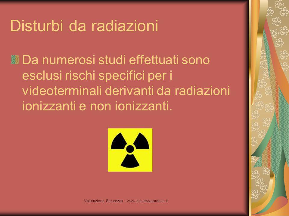 Disturbi da radiazioni
