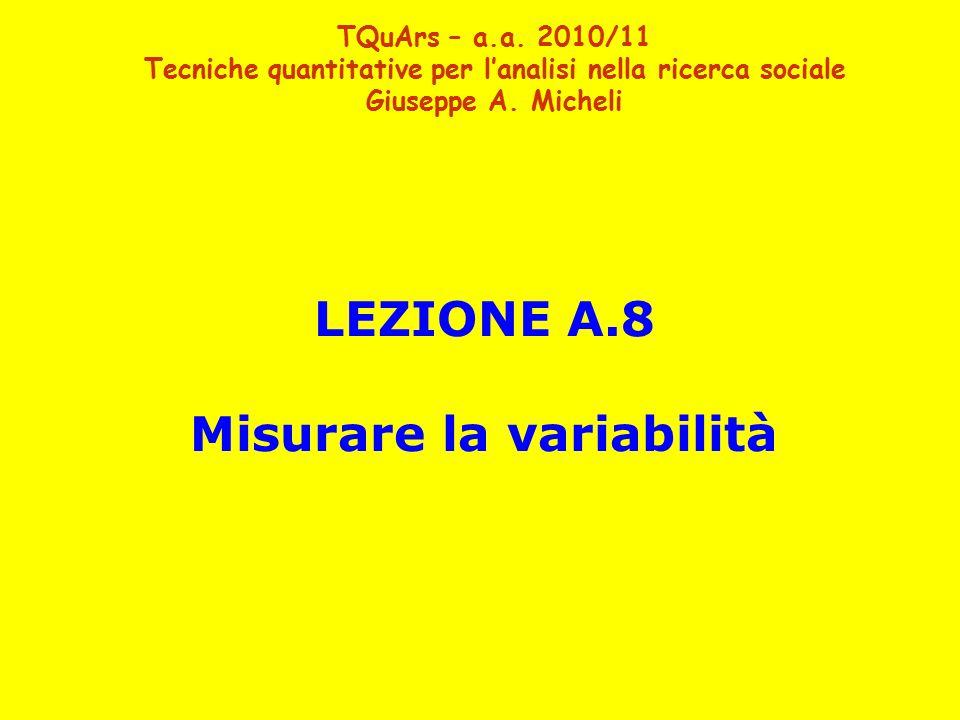 LEZIONE A.8 Misurare la variabilità