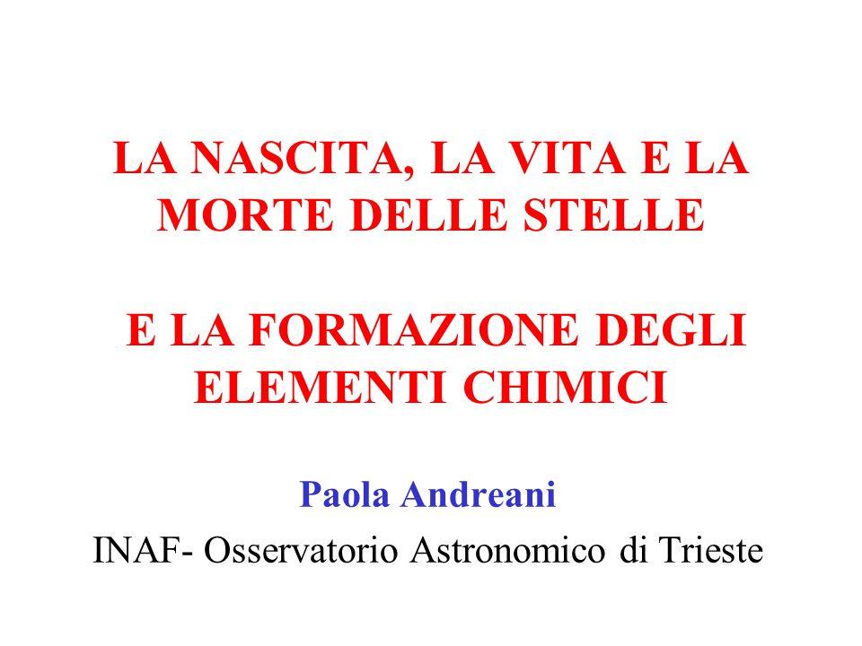 Paola Andreani INAF- Osservatorio Astronomico di Trieste