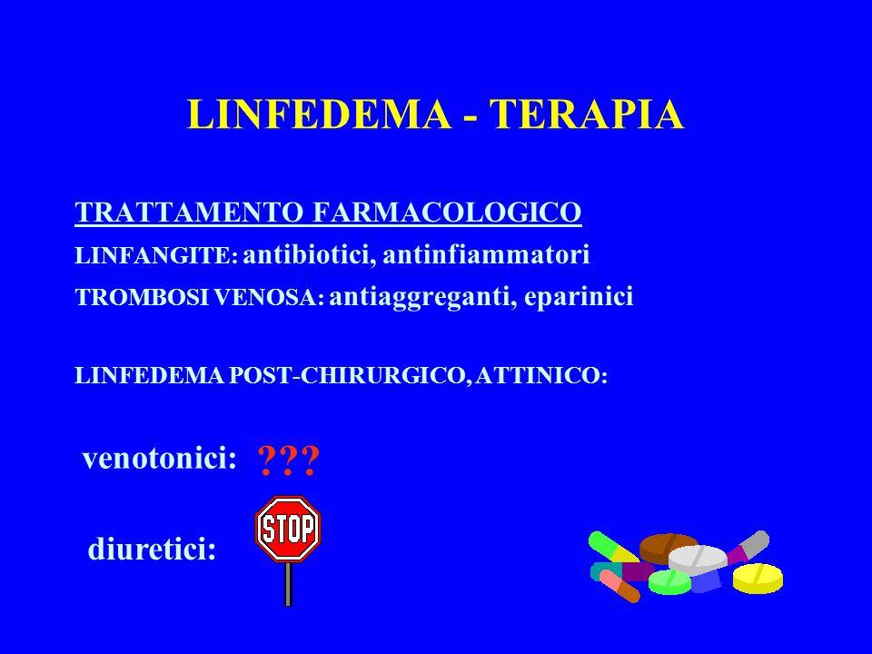 LINFEDEMA - TERAPIA venotonici: diuretici: