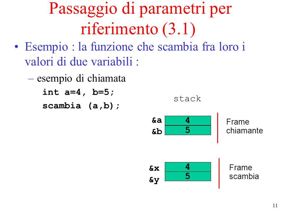 Passaggio di parametri per riferimento (3.1)