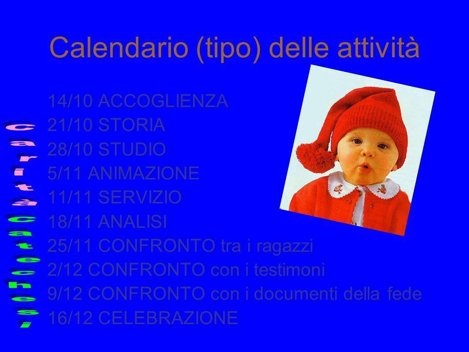 Calendario (tipo) delle attività