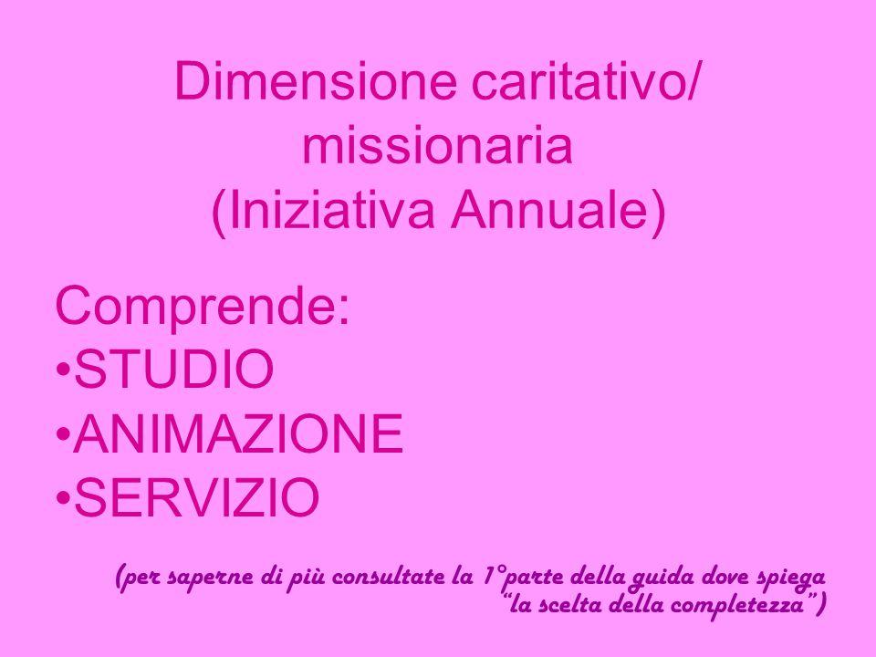 Dimensione caritativo/ missionaria (Iniziativa Annuale)