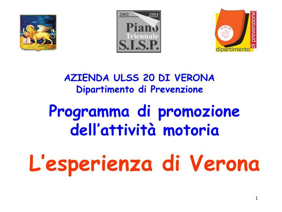 Programma di promozione dell'attività motoria L'esperienza di Verona