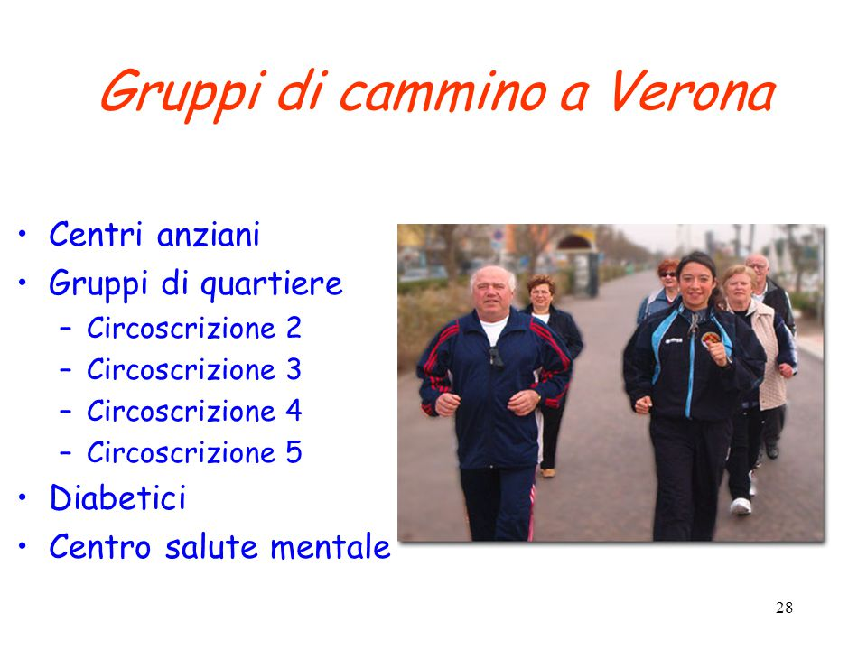 Gruppi di cammino a Verona