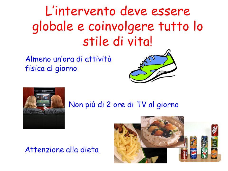 L'intervento deve essere globale e coinvolgere tutto lo stile di vita!