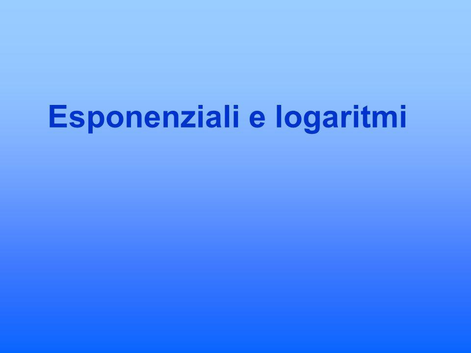 Esponenziali e logaritmi
