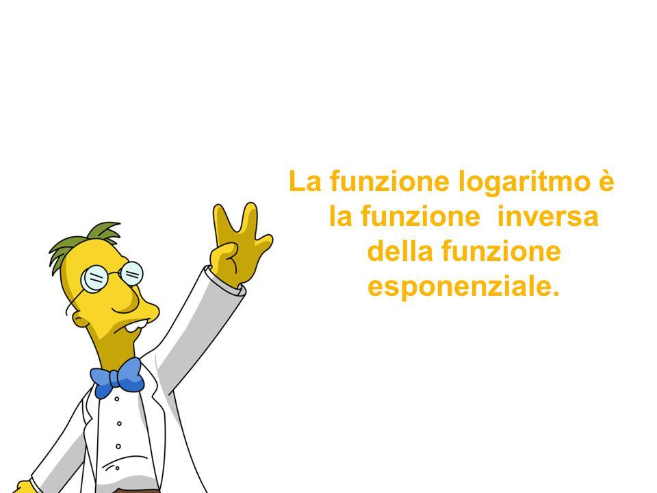 La funzione logaritmo è la funzione inversa della funzione esponenziale.