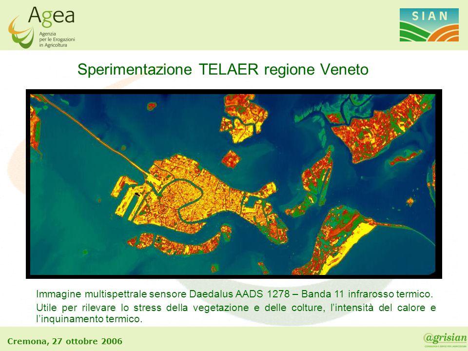 Sperimentazione TELAER regione Veneto