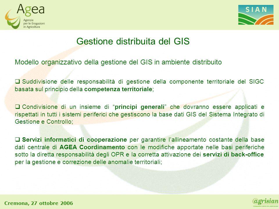 Gestione distribuita del GIS
