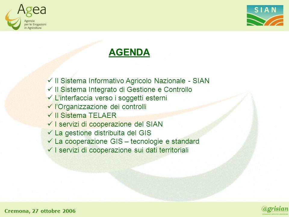 AGENDA Il Sistema Informativo Agricolo Nazionale - SIAN